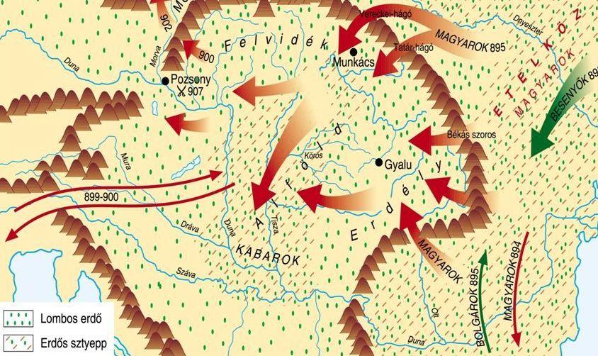A bolgárok és a magyarok letelepedésének hatása