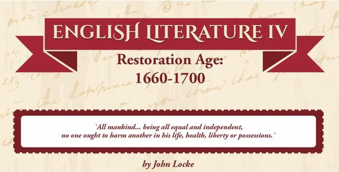 English literature IV – Restoration Age
