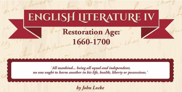 English literature IV – Restoration Age