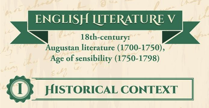 English literature V – Augustan Age and the Age of Sensibility