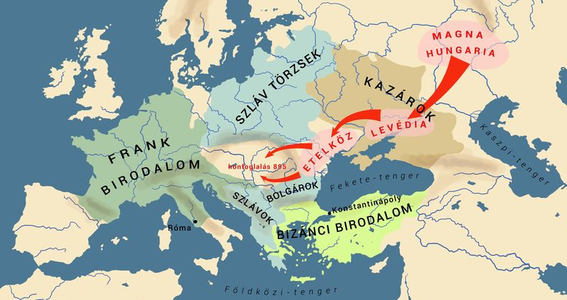 A magyarok vándorlásai az őshazától a kárpátokig
